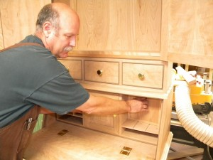 Jerill working on Queen Anne secretary