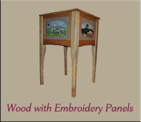 Wood with Embroidery Panels