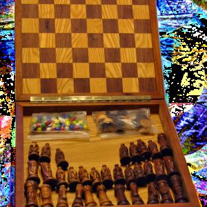 chess set open
